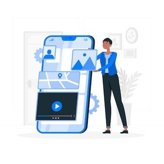 Illustration des mobilen entwicklungskonzepts