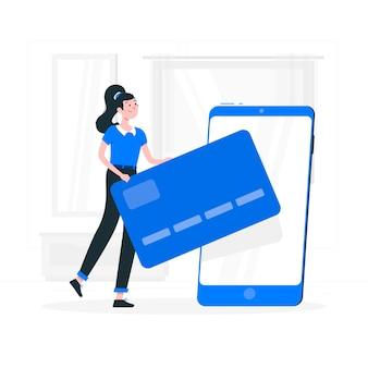 Illustration des mobilen zahlungskonzepts
