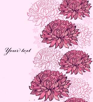 Illustration des nahtlosen musters mit hand gezeichneten chrysanthemen
