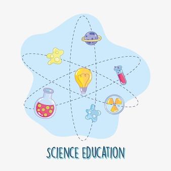 Illustration des naturwissenschaftlichen unterrichts