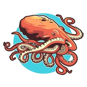 Illustration des oktopus-vektordesigns gut für t-shirt