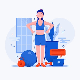 Illustration des online-smiley-personal-trainers