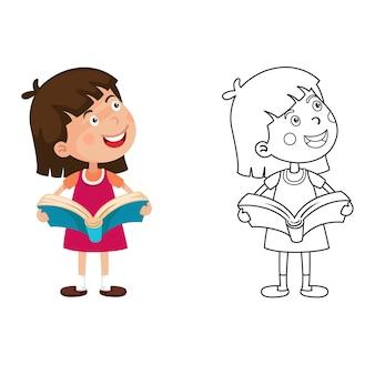 Illustration des pädagogischen malbuches