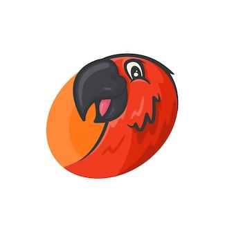Illustration des papageiengesichtes der nahaufnahme