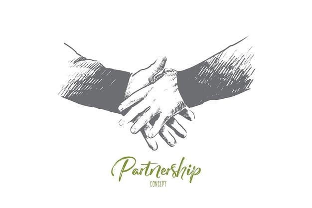 Illustration des partnerschaftskonzepts