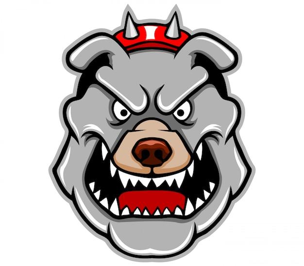 Illustration des pitbull-kopfes