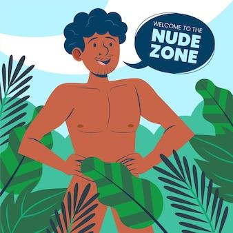 Illustration des positiven nacktzonenkonzepts