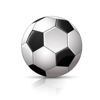 Illustration des realistischen fußballs