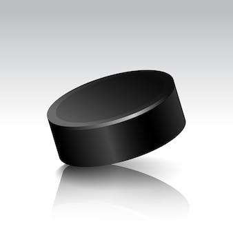 Illustration des realistischen hockey-pucks