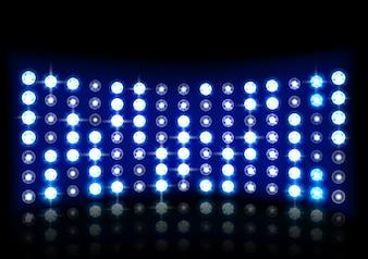 Illustration des realistischen Stadiumshintergrundes des blauen Lichtes