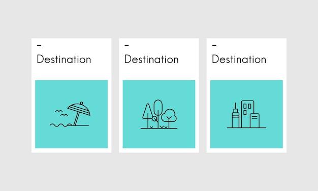 Illustration des reisekonzeptes
