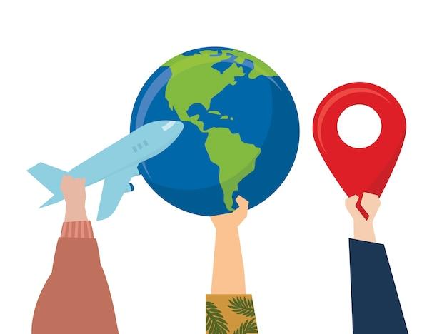Illustration des reisereise-reisekonzeptes