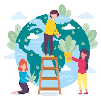 Illustration des save the planet-konzepts