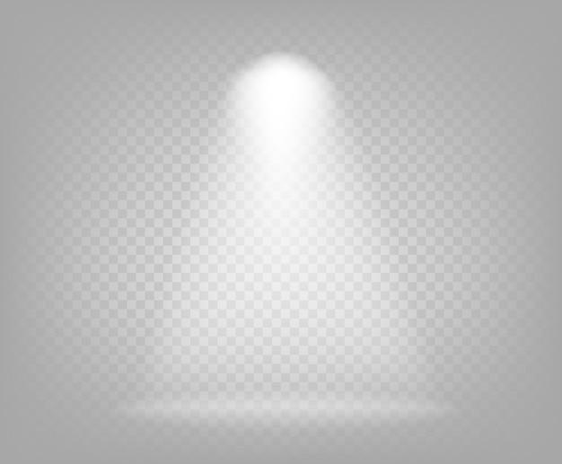 Illustration des scheinwerferstrahls lokalisiert auf transparentem hintergrund