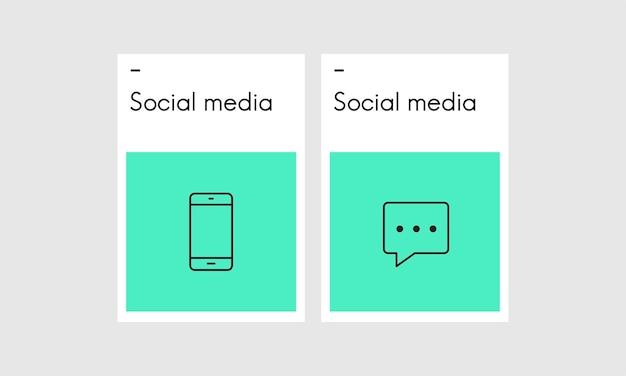 Illustration des social media-konzeptes