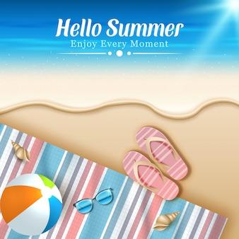 Illustration des sommerferienkonzepthintergrunds.