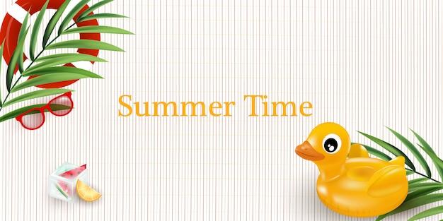 Illustration des sommerzeitplakats. sommerferienillustration.
