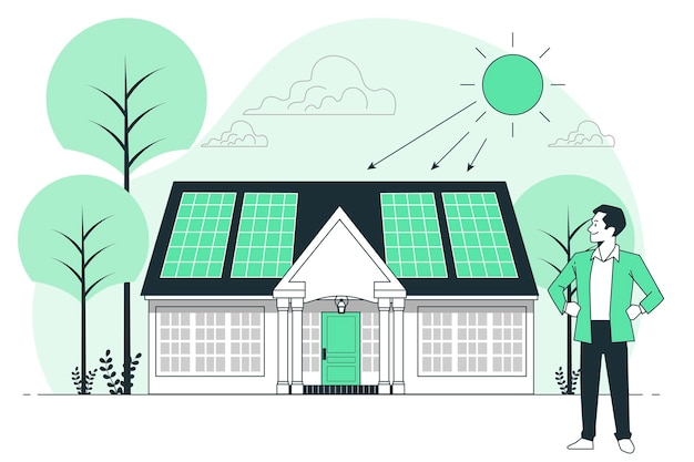 Illustration des sonnenenergiekonzepts
