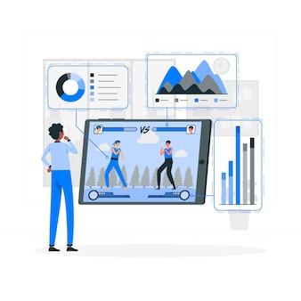 Illustration des spielanalysekonzepts