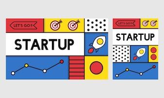 Illustration des Startgeschäfts