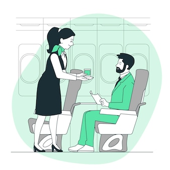 Illustration des stewardess-konzepts