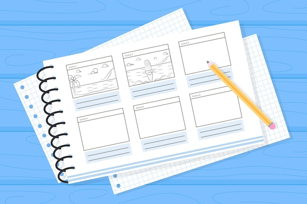 Illustration des storyboard-prozesses