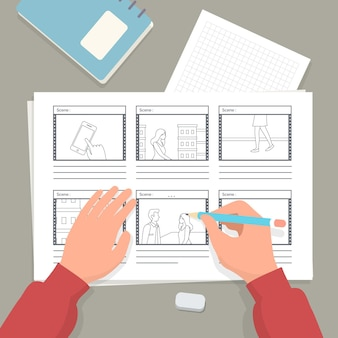 Illustration des storyboard-prozesses
