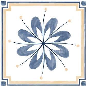 Illustration des strukturierten musters der fliesen