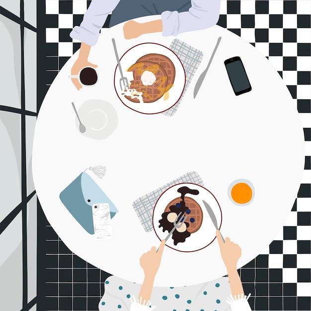 Illustration des täglichen lebens der leute