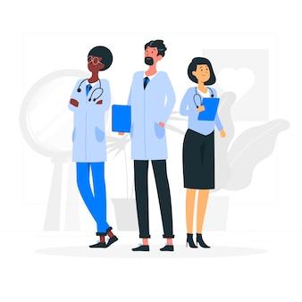 Illustration des teams des gesundheitsexperten-teams