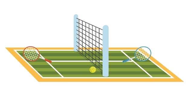 Illustration des tennisplatzes