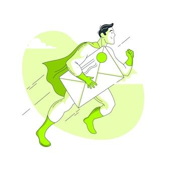 Illustration des umschlagkonzepts