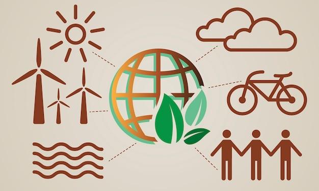Illustration des umweltkonzeptes