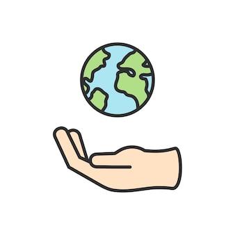 Illustration des umweltvektors