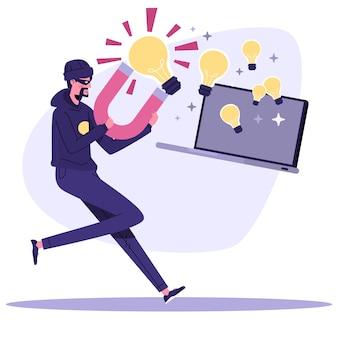 Illustration des urheberrechtsplagiats