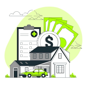 Illustration des versicherungskonzepts