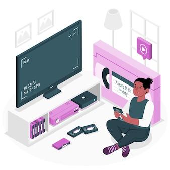 Illustration des videobandkonzepts