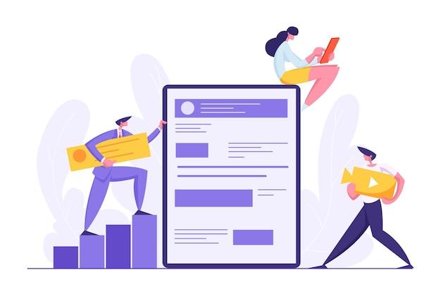 Illustration des web-software-entwicklungskonzepts