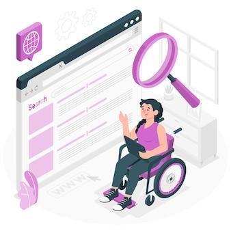 Illustration des web-suchkonzepts