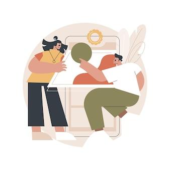 Illustration des webanwendungsdesigns