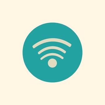 Illustration des wi-fi signalvektors