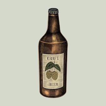 Illustration einer flasche handwerksbieres