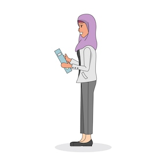Illustration einer frau, die ein hijab trägt