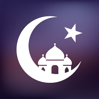Illustration einer islamischen moschee