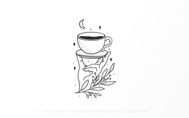 Illustration einer kaffeemarke