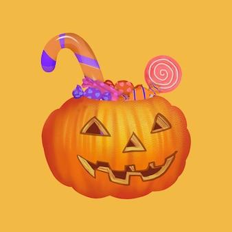 Illustration einer süßes sonst gibt's saures ikone für halloween
