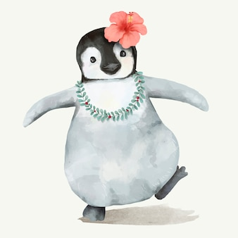 Illustration eines baby penguine