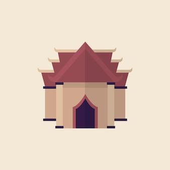 Illustration eines buddhistischen tempels