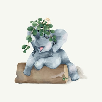 Illustration eines elefanten