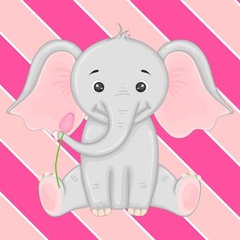 Illustration eines elefanten.